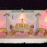 Asian Wedding Gold King Furniture Set