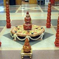 Indian Wedding Garba Pots Decorations