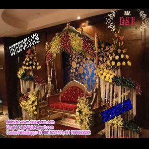 Indian Wedding Gold Jhula Swing Set