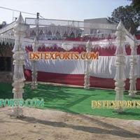 New Wedding Six Pillar Crystal Mandap