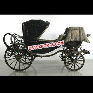 Royal Black Horse Drawn Buggy Carriage