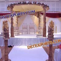 Wedding Wooden Spiral Mandap