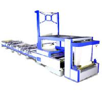 automatic flat bed screen printing machine