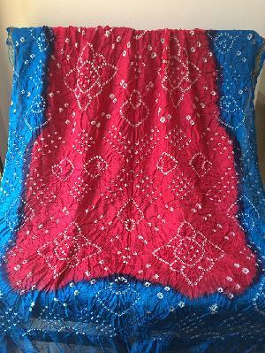 Bandhani Silk Dupatta, Bandhani Odhani, Silk Dupatta