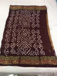 Jacquard Silk Bandhani Sarees