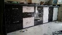 PVC Marble Kitchen Cabinets