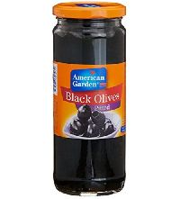 450gm American Garden Olives Black Pitted