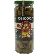 450gm Olicoop Green Pitted Olive