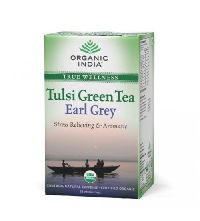 Earl Grey Organic India Tulsi Green Tea