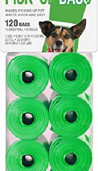 120 Bags Green Dog Waste Pick-up Bags