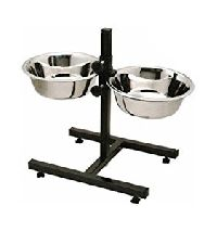 Paws For A Cause High Quality Stainless Steel Pets Dog Food Bowl Stand (1500mlx2 Bowl)