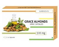500Mg Grace Almonds Almond Oil Capsules