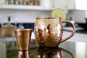 Copper Mug With Shot Glass.