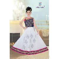 Printed Party Wear Kids Gown