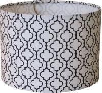 Printed Fabric Drum Lamp shade for Metal Table Lamp