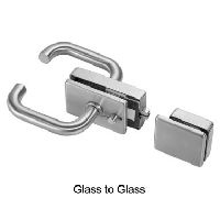 Square Bathroom Glass Door Lock