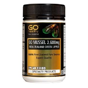 Go Healthy GO Mussel NEW ZEALAND Green Lipped Mussel 2,600mg 180 Capsules