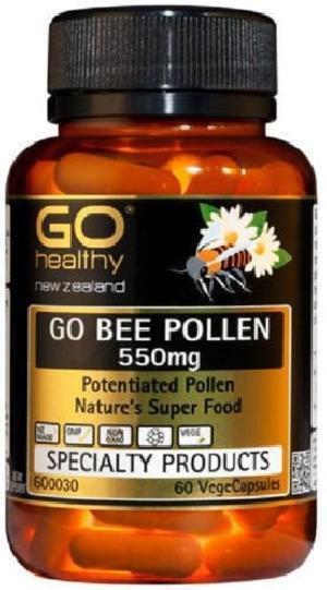 New Zealand Go Healthy GO Bee Pollen 550mg (60 Capsules)