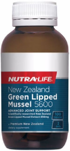 New Zealand High Potancy Green Lipped Mussel 5600 Advanced Support 100 capsules
