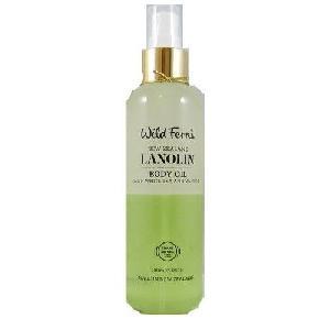 New Zealand Wild Ferns Lanolin Body Oil With White Tea & Vanilla 180ml 99% Natural