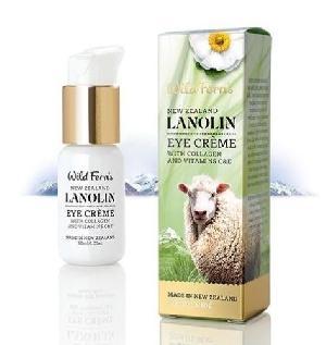 New Zealand Wild Ferns Lanolin Eye Creme With Collagen 30ml 99% Natural