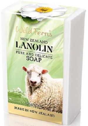 New Zealand Wild Ferns Lanolin Pure And Delicate Soap (135g)