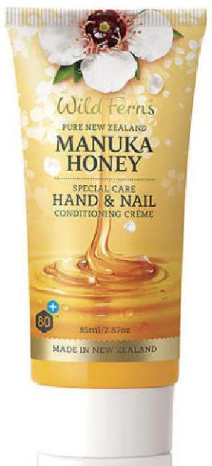Wild Ferns 80+ Manuka Honey 94% Natural Hand & Nail Conditioning Creme (85ml)
