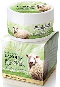 New Zealand Wild Ferns Lanolin Night Creme With Collagen, Placenta & Propolis