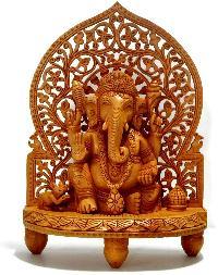 Wooden Ganesh jali