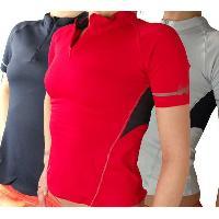 Ladies Mandarin Collar Sports T-shirts