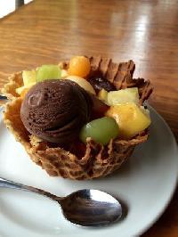 Basket Fruit Ice Cream