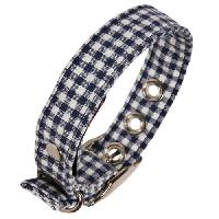 Dog Check Print Collar