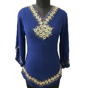 Ladies Embroidered Full Sleeves Tops