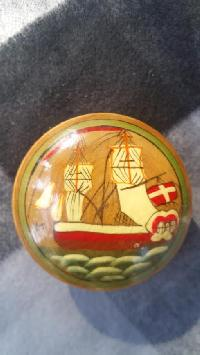 Wooden Painted Pill Box