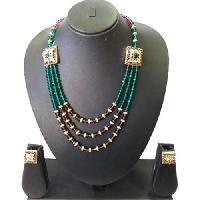 Indian Fashion Designer Antique Crystal Necklace