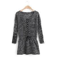 Black Winter Rosy Cardigan Sweater