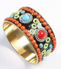 Fashion Marine Style Brass Metal Beads Gold Type Artificial Jewellery Bangles