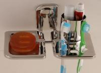 Soap Dish With Tooth Brush Holder