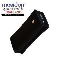 MOERDON 4000mAh Power Bank, portable charger Powerbank -Black