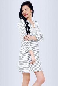 Brooklyn White And Black Striped Dress