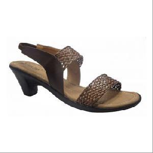 Ladies Brown Mesh Sandals