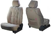 Elegant Cotton Satin Car Seat Cover White