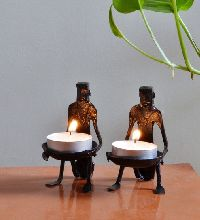 Tribal Candle Stand Set