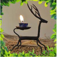 Wrought Iron Craft Candle Holder