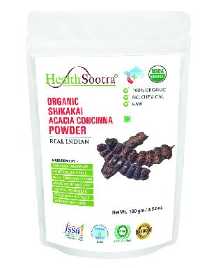 Healthsootra Organic Shikakai Powder 100 Gm Pack