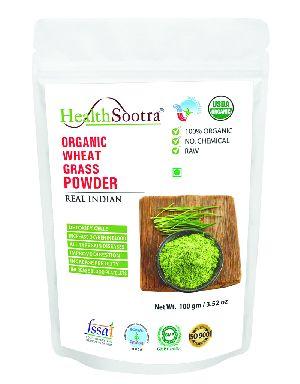 Healthsootra Organic Wheatgrass Powder 100 Gm Pack