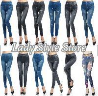 Printed Jeans Leggings,Ladies Leggings