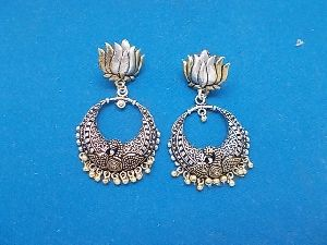Lotus Dual Tone Earrings