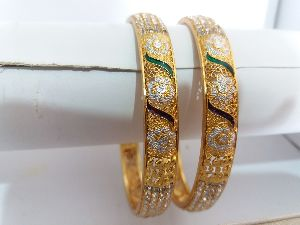10mm Diamond Metal Bangles