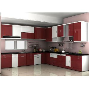 Solid wood modular kitchen in pune manufacturers and for Wooden modular kitchen designs
